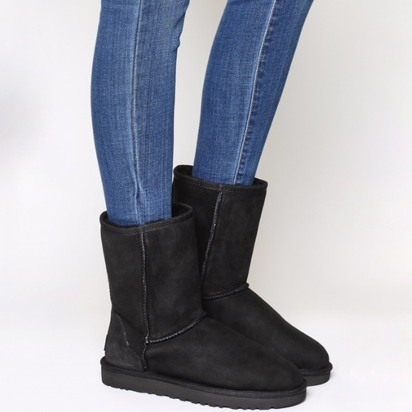 UGG Shoes   Classic Black Short Uggs